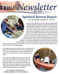 Pioneer Health and Missions Newsletter